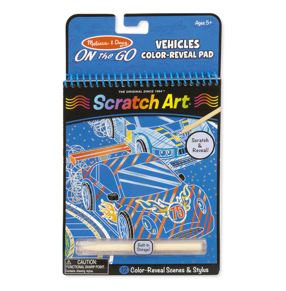 On the Go Scratch Art: Color-Reveal Pad – Vehicles
